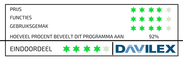 Davilex online boekhouden vergelijken