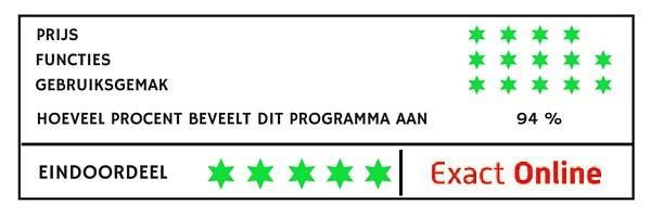 Exact Online boekhoudprogramma vergelijken