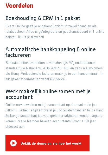 exact online boekhoudprogramma