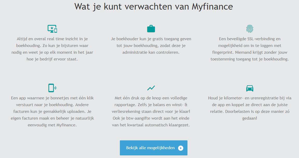 Myfinance boekhoudsoftware voor zzp'ers