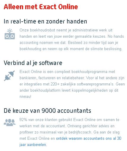 exact online boekhouden accountants